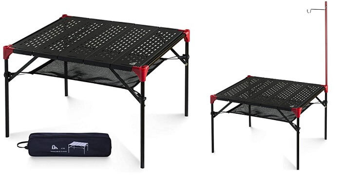 バイクキャンプで使える iClimbのアウトドア テーブル