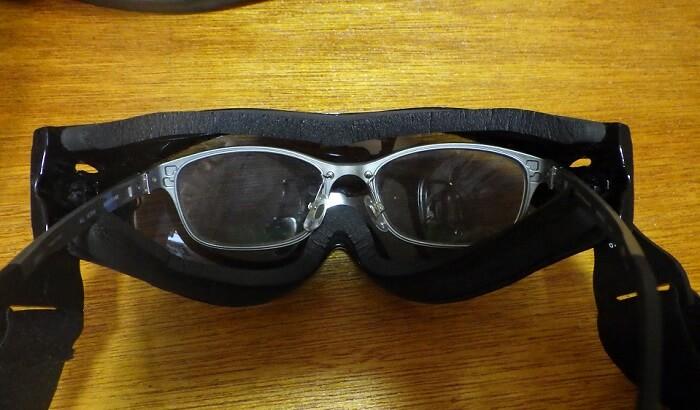 ボブスターのゴーグル 眼鏡対応