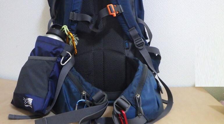 登山用ボトルホルダーにおすすめ カリマーのポーチの特徴