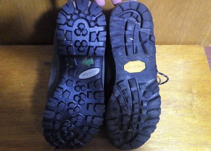 ツオロミーブーツのソール幅 スカルパ登山靴と比較