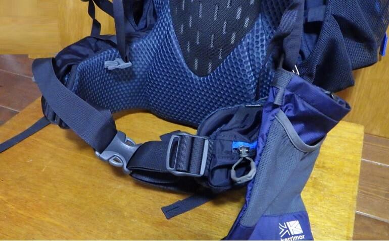 カリマーのポーチはテント泊登山用リュック グレゴリー スタウト60にも装着可能